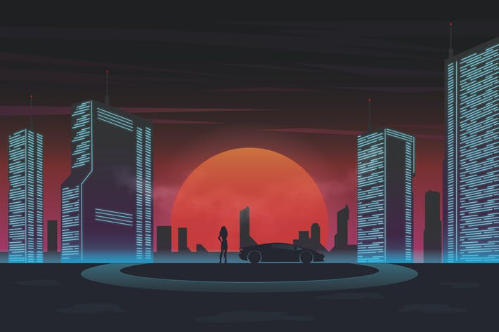 Thumbnail for Future Neon City - Vector Illustration