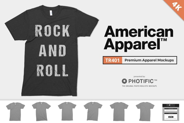 Thumbnail for American Apparel TR401 Triblend Mock-ups