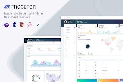 Frogetor - Responsive Admin Dashboard Template