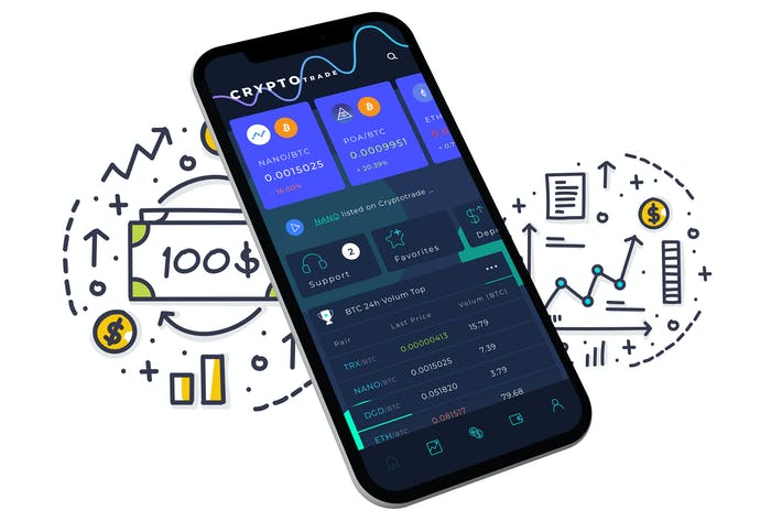 Thumbnail for Crypto Trade Home 4 Mobile Ui