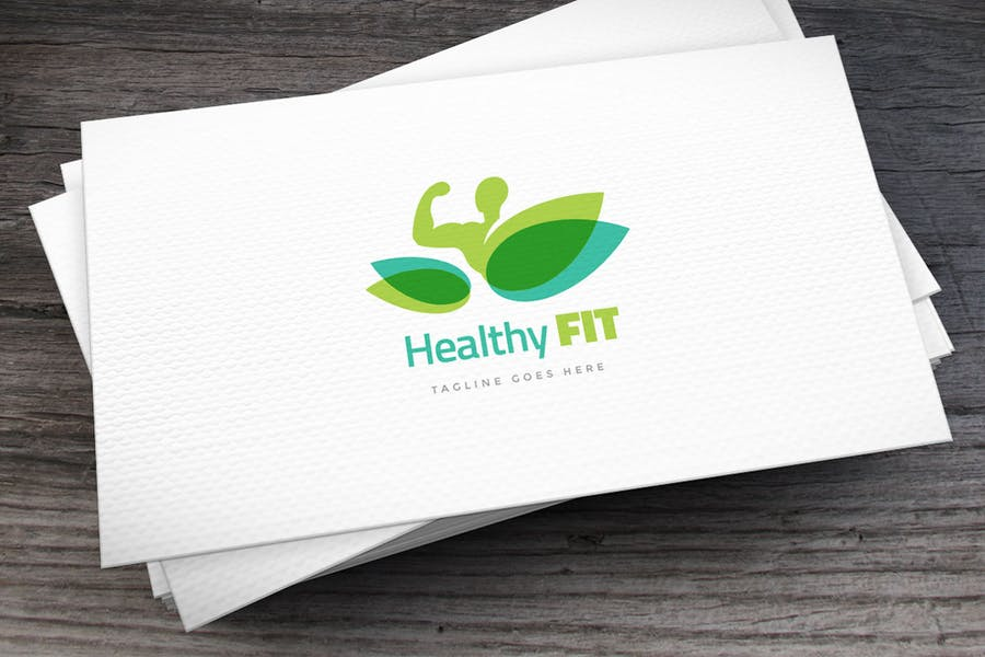 Healthy Fit Logo Template