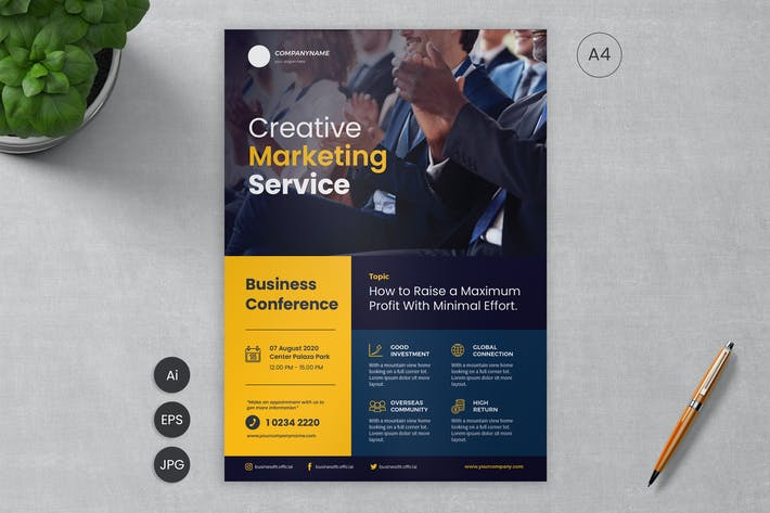 Thumbnail for Business Flyer Template 08 - Slidewerk