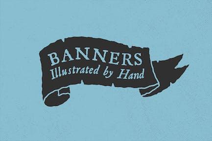 Handbebilderte Banner