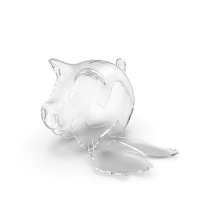Broken Glass Piggy Bank