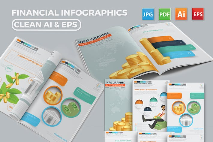 Thumbnail for Finance Infographics 17 Pages Design