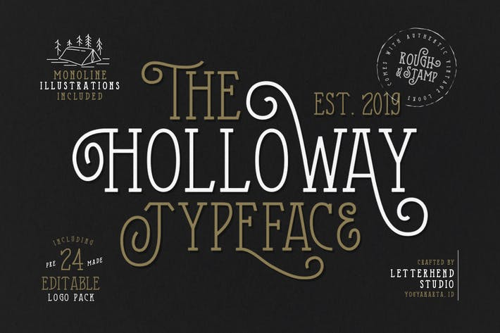 Thumbnail for The Holloway Typeface + EXTRAS