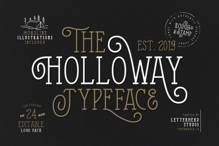 La police de caractères Holloway + EXTRAS