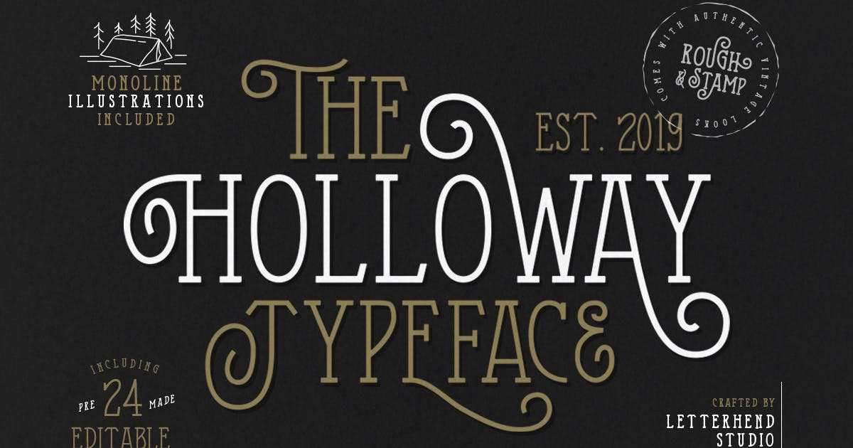 The Holloway Typeface + EXTRAS by letterhend