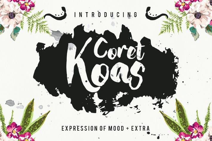 Thumbnail for CoretKoas Font