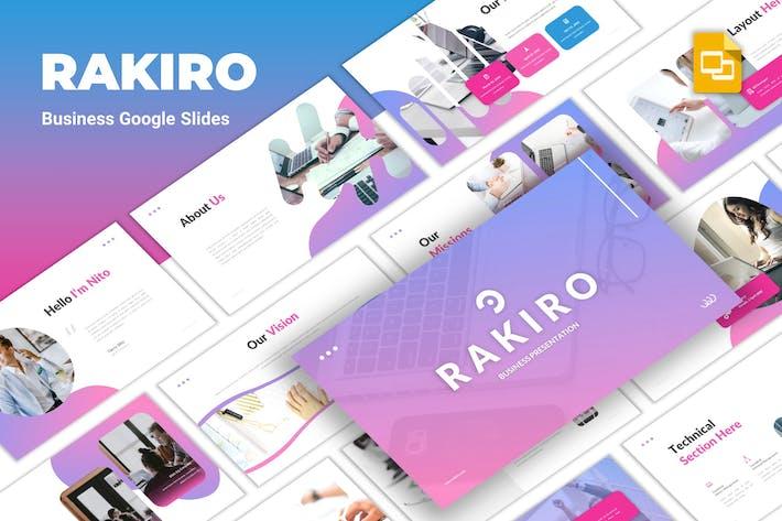 Thumbnail for Rakiro - Business Google Slides Template