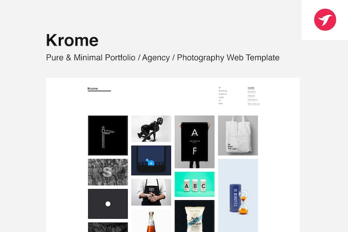 Thumbnail for Krome - Pure & Minimal Portfolio / Agency Template