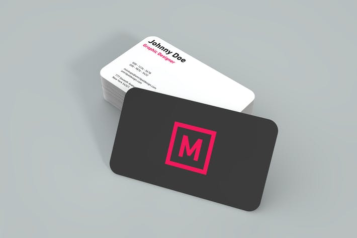 Thumbnail for Rounded Two Side Business Card Mockup