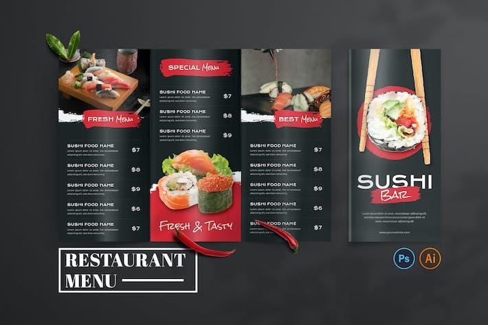 Sushi Bar – Food Menu Design