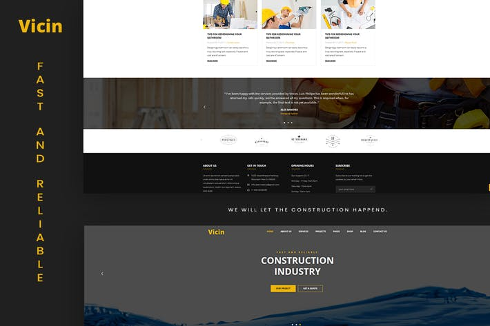 Thumbnail for Vicin | Multipurpose Construction & Plumbing HTML
