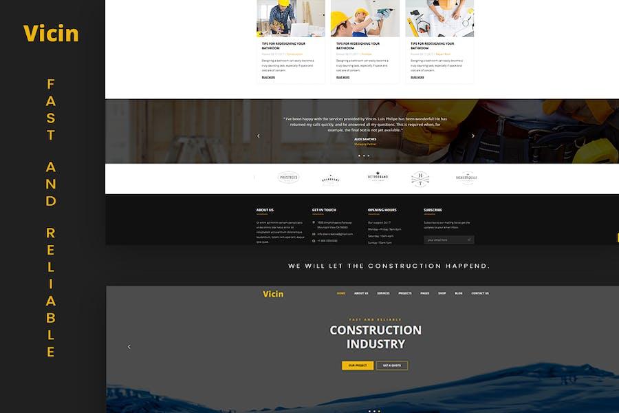 Vicin | Multipurpose Construction & Plumbing HTML