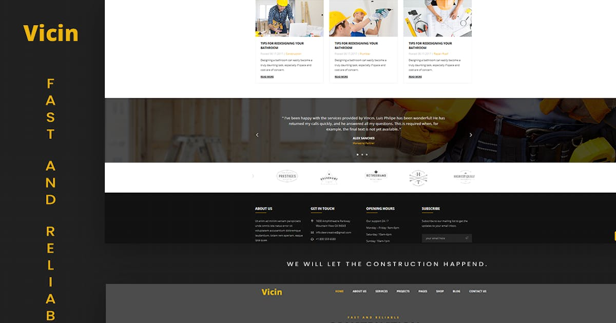 Download Vicin | Multipurpose Construction & Plumbing HTML by MarkhorThemes