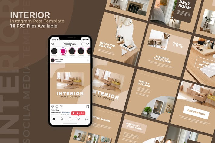 Thumbnail for Interior - Instagram Post Template