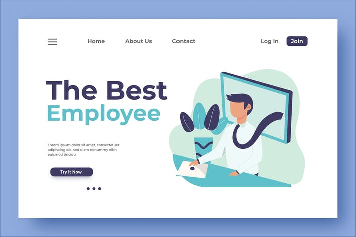 Thumbnail for The Best Employee Landing Page Illustration