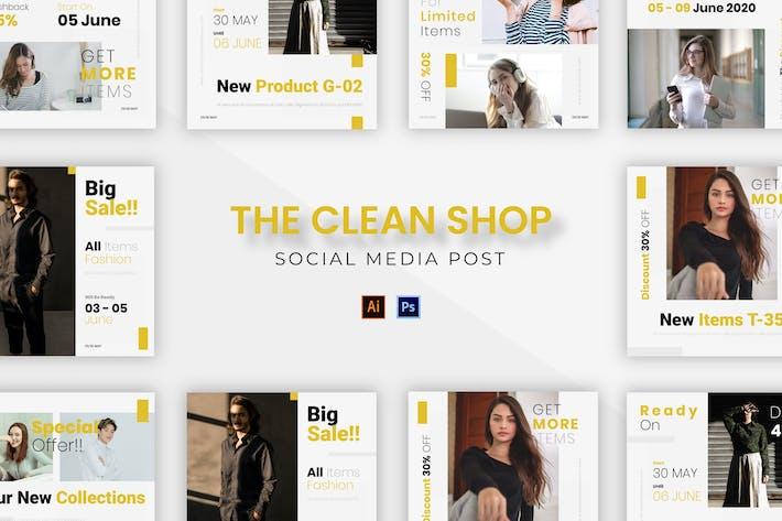 Thumbnail for Clean Shop Socmed Post