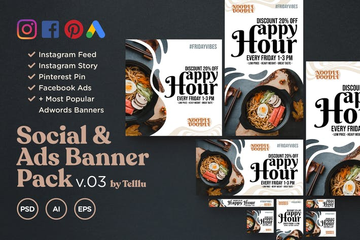 Cover Image For Social & Ads Banner Pack v03