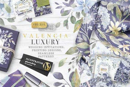 """"""" VALENCIA"""" Luxus-Aquarelle"""