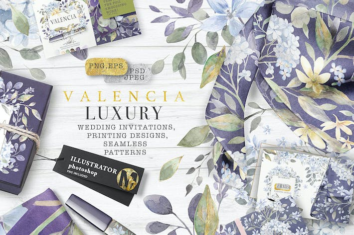 "Thumbnail for ""VALENCIA"" luxury watercolors"