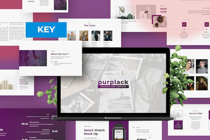 Thumbnail for Purplack Creative Purple Business Keynote