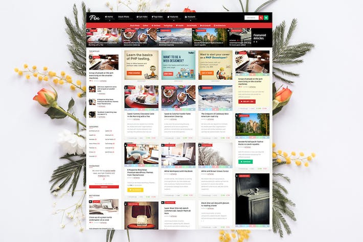 Thumbnail for Pin = Pinterest Style Membership News Blog Theme