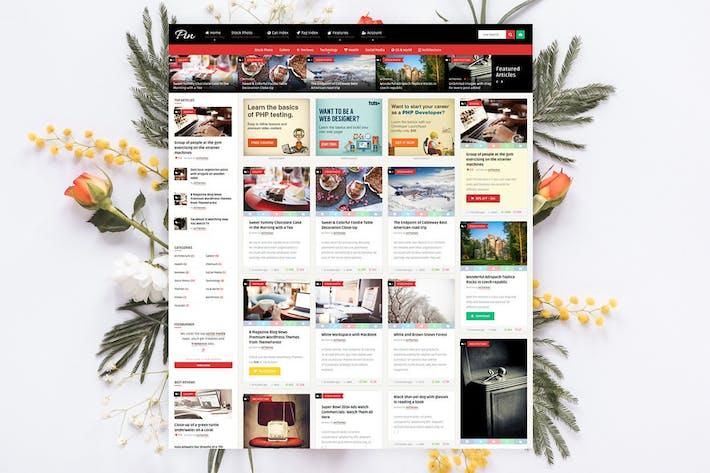 Pin = Pinterest Style Membership News Blog Theme