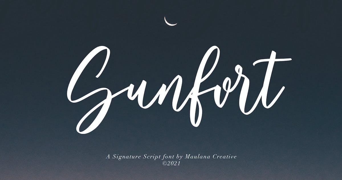 Download Sunfort Signature Script Font by maulanacreative