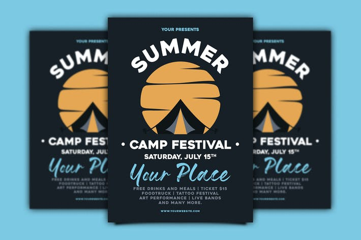 Thumbnail for Summer Camp Festival Flyer