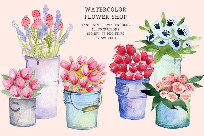Thumbnail for Aquarell Blumenladen