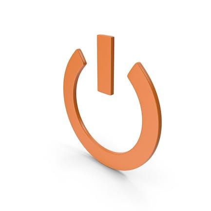 Power Icon Orange