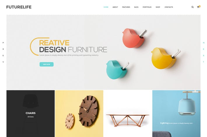 Thumbnail for Futurelife - Ecommerce PSD Template