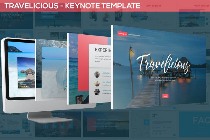 Thumbnail for Travelicious - Keynote Template