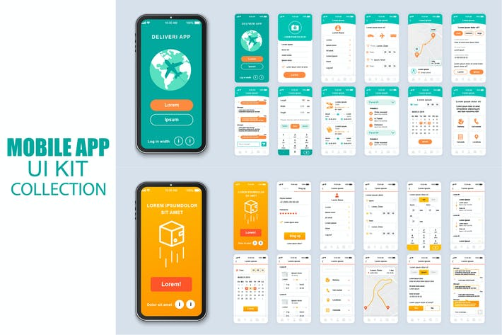 Thumbnail for Big Collection Delivery Mobile App Ui Kit Screen