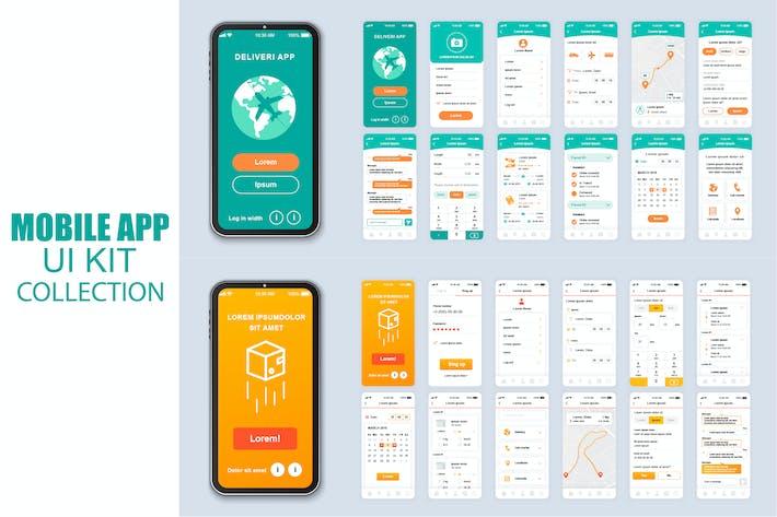 Thumbnail for Большая Коллекция Доставка Мобильное Приложение Ui Kit Экран