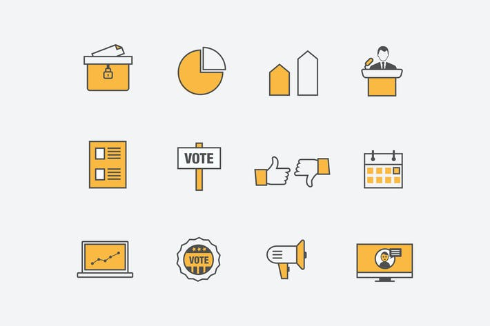 Thumbnail for 12 Election and Campaign Icons
