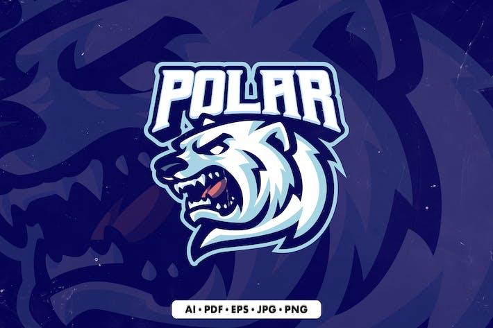 Polar Bear 1 Mascot Logo template