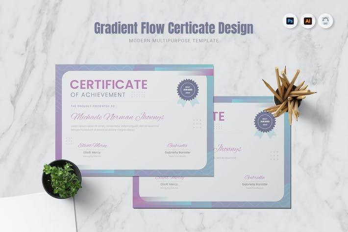 Gradient Flow Certificate