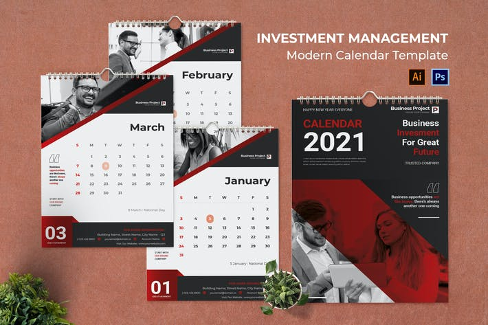 Invesment Management Calendar Portrait