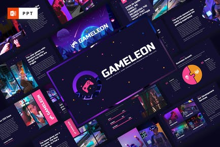 Gameleon - Gaming Studio Powerpoint Template