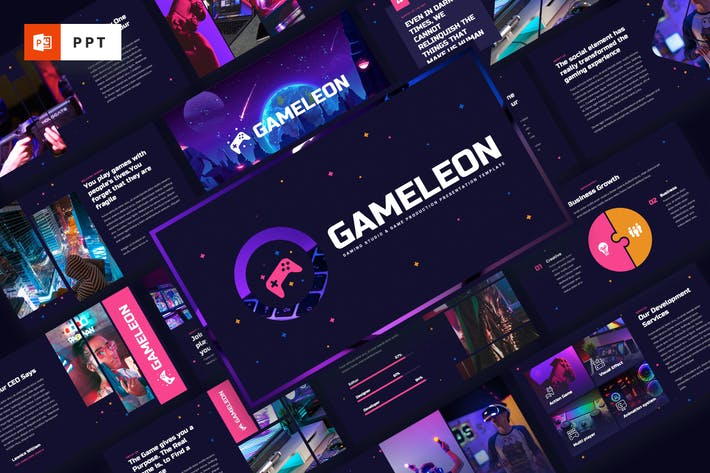 Thumbnail for Gameleon - Gaming Studio Powerpoint Template