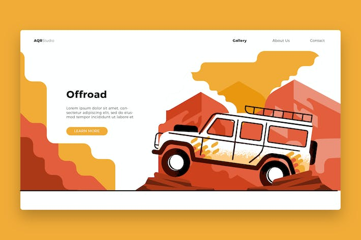 Thumbnail for Offroad - Banner & Landing Page