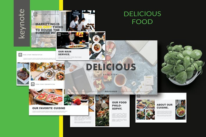 Thumbnail for Delicious Food  - Keynote Template