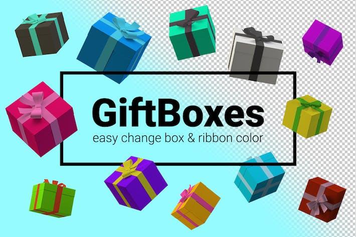 Gifts various Views customizable on Transparent