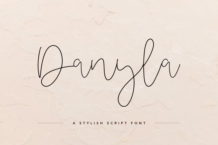 Thumbnail for Danyla Stylish Signature Font