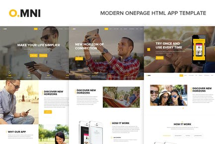 Omni - Modern Onepage HTML App Template