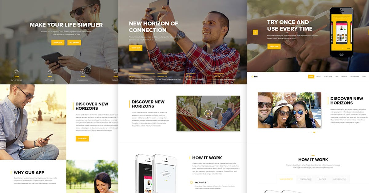 Download Omni - Modern Onepage HTML App Template by UnionAgency