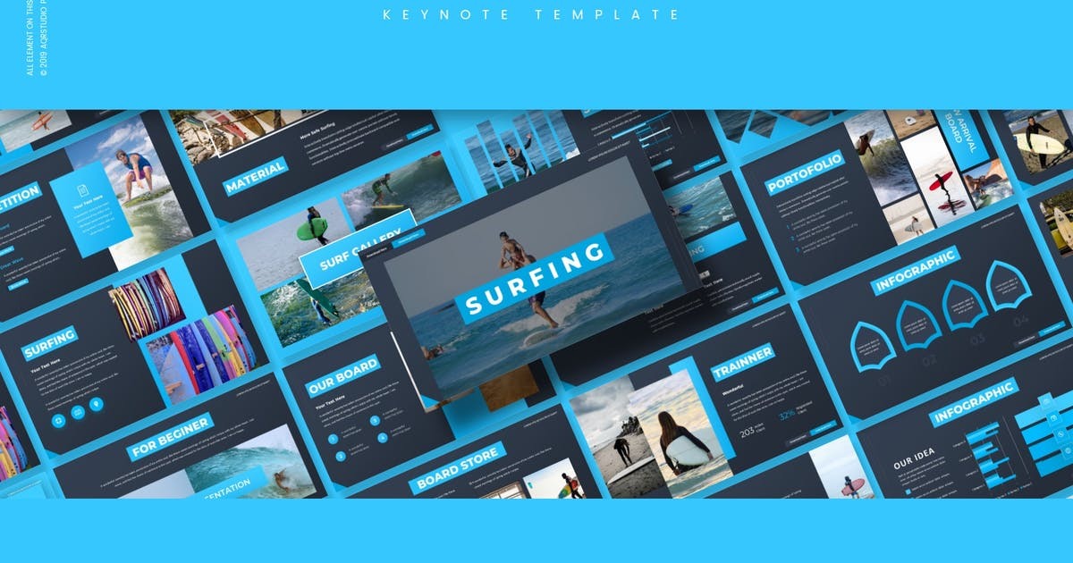 Download Surfing - Keynote Template by aqrstudio
